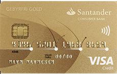 Santander Gebyrfri Visa kredittkort