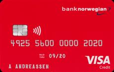 Bank Norwegian Visa kredittkort