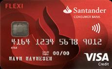 Santander Flexi Visa kredittkort