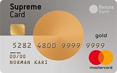 Supreme Card Gold Mastercard kredittkort